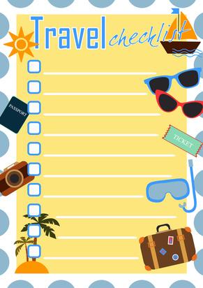 Checklisten Urlaub